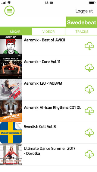 Swedebeat Fitness Music App Screen 1