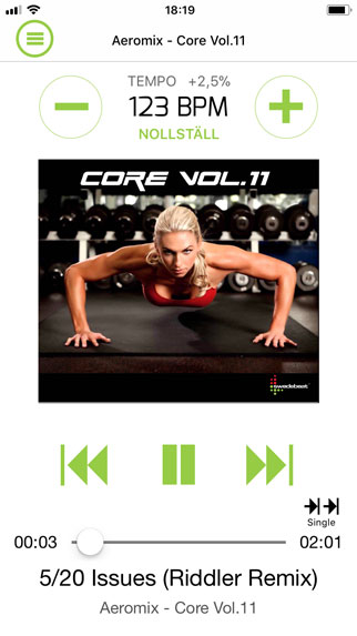 Swedebeat Fitness Music App Screen 2