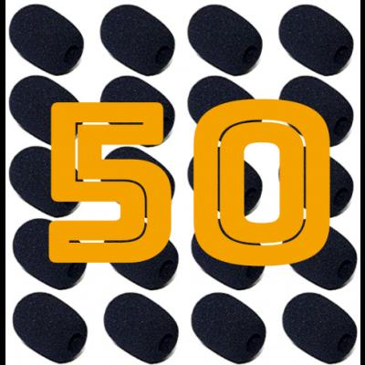 Headset Microphone Windscreen / Puffskydd 50-Pack